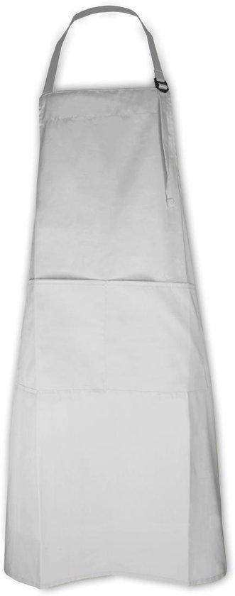 Keukenpakket Wit: 1 Apron schort, 2 ovenwanten, 2 pannenlappen en 1 theedoek