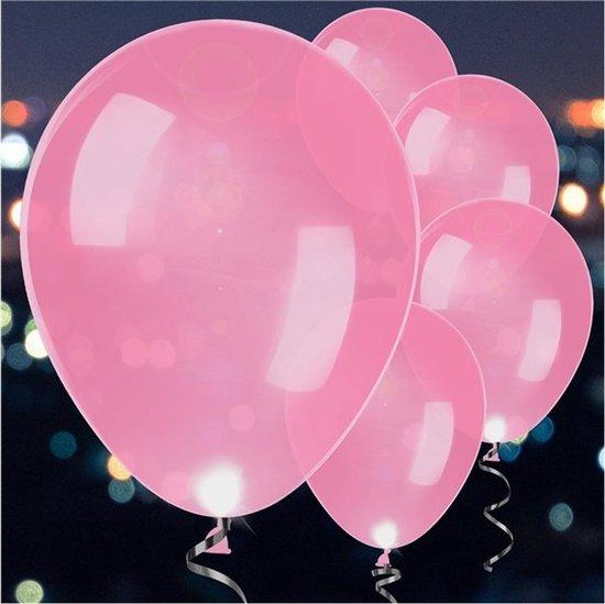 5 Latex Balloons LED Pink 27 5 cm/11