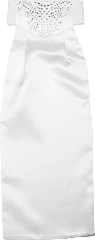 Imperial Riding Plastron  Crystal - White