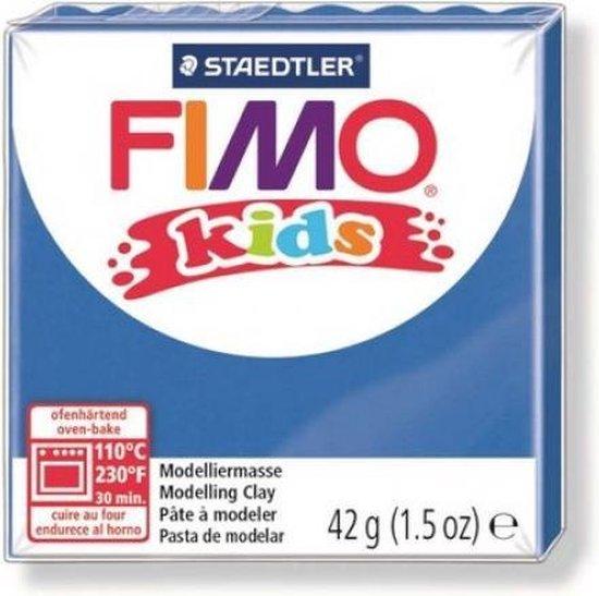 Fimo kids boetseerklei 42g blauw 8030-3