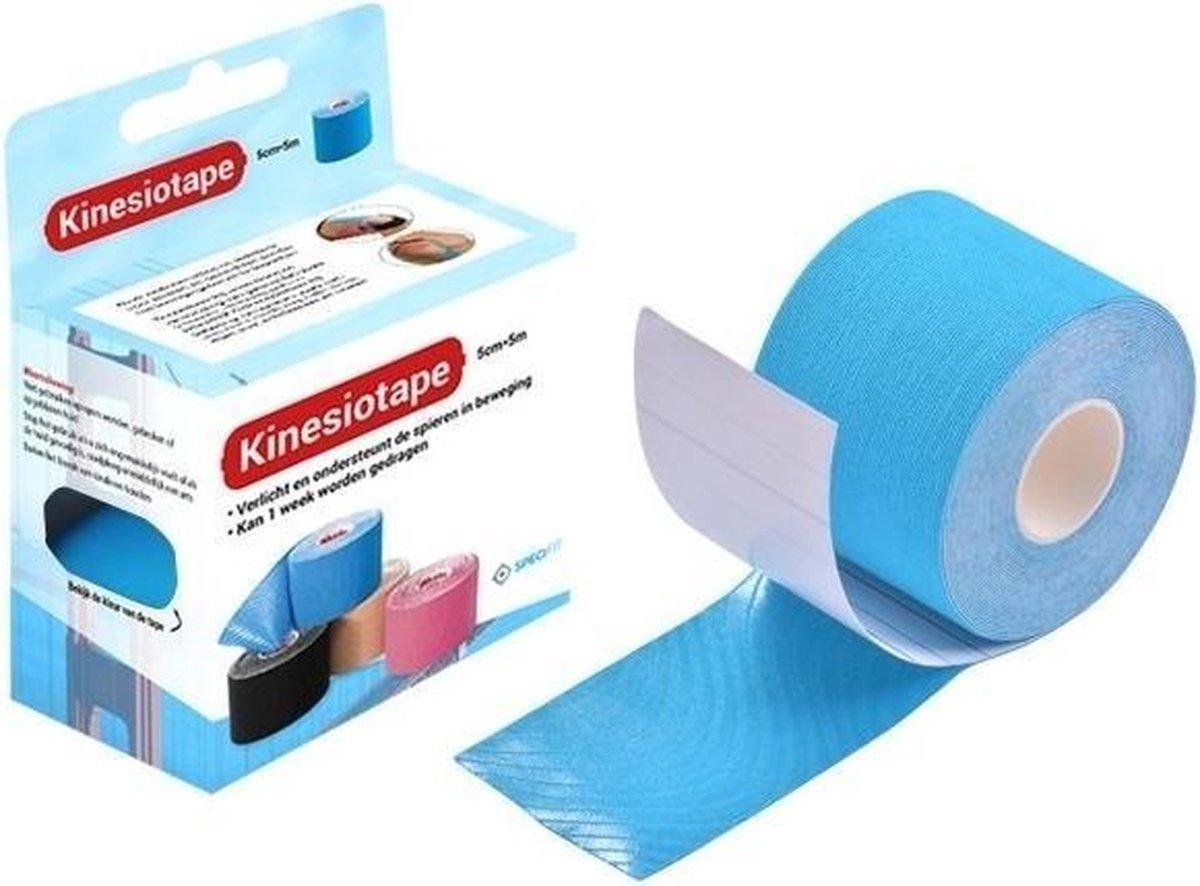 Specifit Kinesiotape Sporttape Blauw Rol 5 cm x 5 m