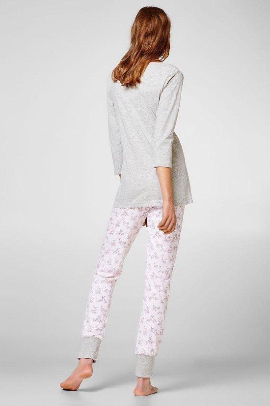 | Dames pyjama van Esprit grijs roze