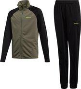 adidas - Young Boys Track Suit Entry - Zwart/Groen - Kinderen - maat  152