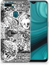 Silicone Back Case OPPO AX7 Skulls Angel