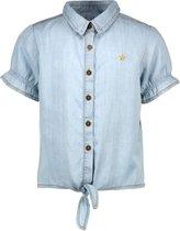 Like Flo Meisjes blouses Like Flo Flo girls light denim knotted ss blo denim 128
