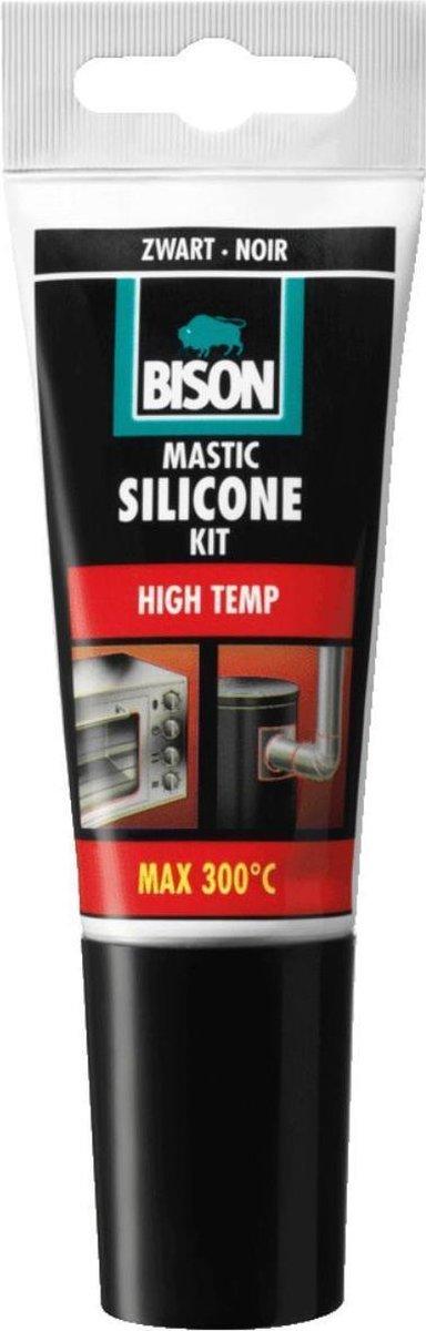 Bison Siliconenkit High Temp - Zwart - 60 ml