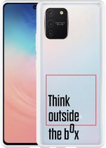 Samsung Galaxy S10 Lite Hoesje Think outside the Box