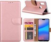 Hoesje voor Huawei P Smart (2019) portemonnee hoesje / met opbergvakjes Rose Goud
