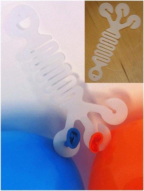 Voordeelset van 10x Hoekhanger voor drie ballonnen - Feestversiering accessoires ballonhangers