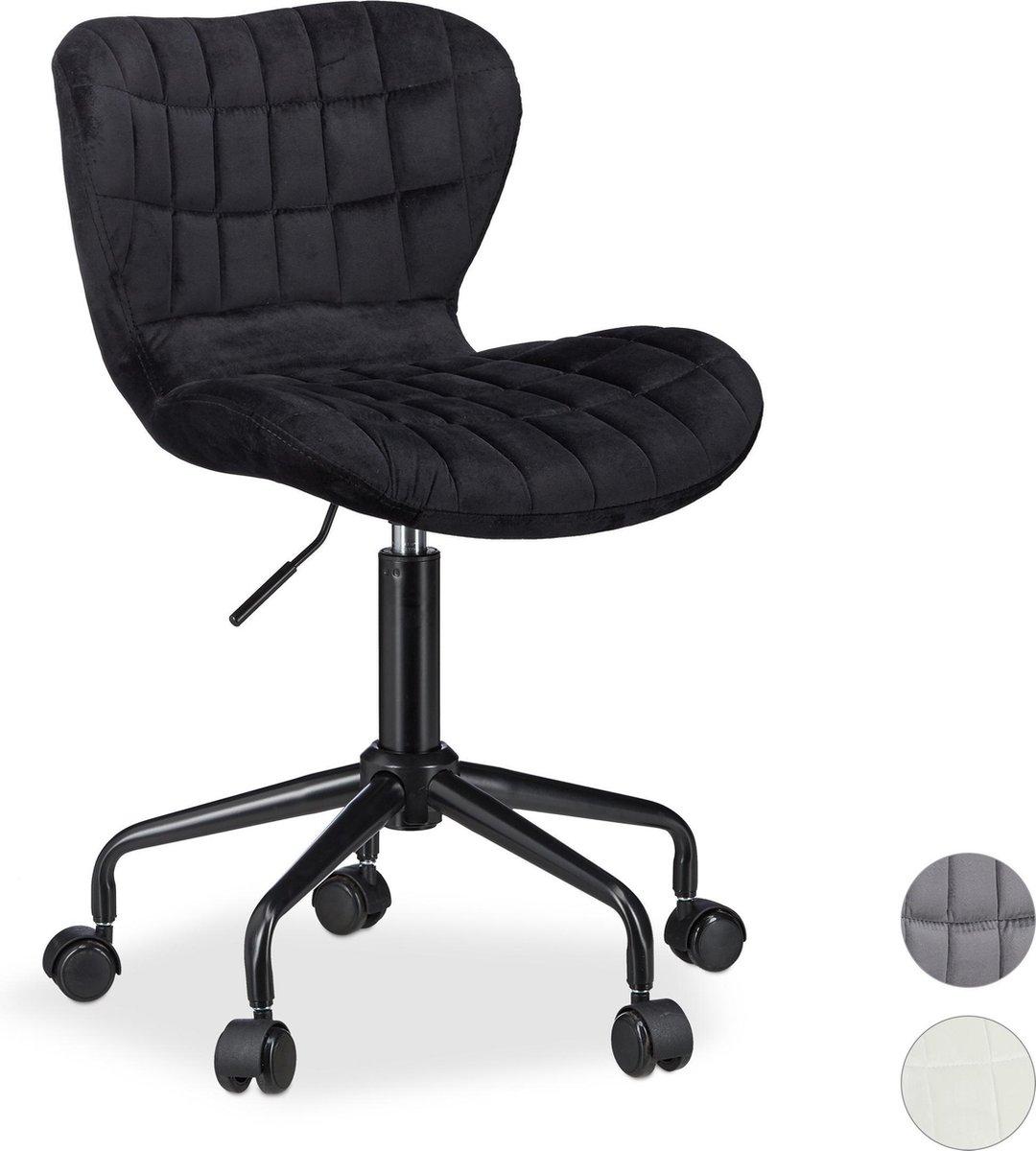 relaxdays bureaustoel - directiestoel - computerstoel - hoogte verstelbaar - burostoel zwart