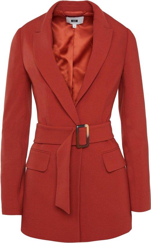 | WE Fashion Dames regular fit blazer met structuur