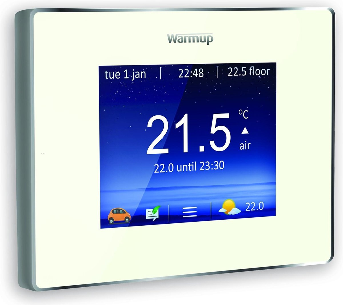 4iE Smart Wifi Thermostaat Elektrische vloerverwarming | Kleur: Bright Porcelain| Warmup