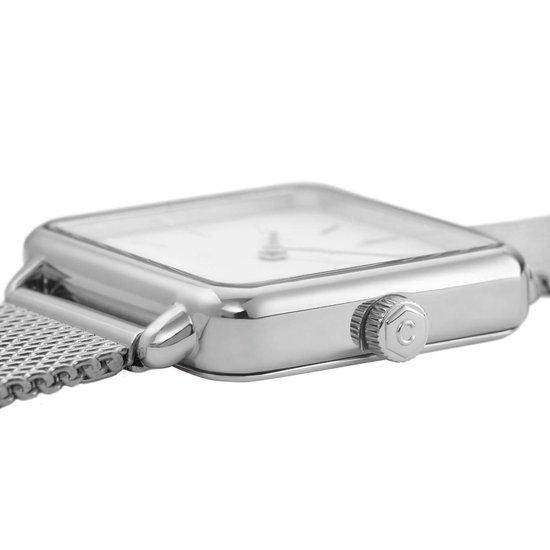 CLUSE Horloges La Tetragone Mesh Silver Colored Wit - Cluse