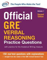 Boek cover Official GRE Verbal Reasoning Practice Questions, Second Edition van Educational Testing Service