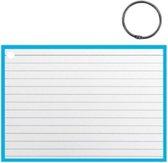 Verhaak Flashcard Met Clipring A6 Papier Wit/mintblauw 50 Stuks