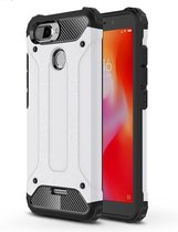 Let op type!! Magic Armor TPU + PC combinatie Case voor de Xiaomi Redmi 6 (zwart)