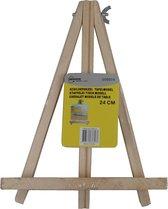 Houten schildersezel voor op tafel 24 cm - Hobby/schilderbenodigdheden - Schildermateriaal - Tafelmodel schilder ezels