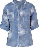 Paprika Linnen blouse met cirkels Dames Blouse Maat EU48