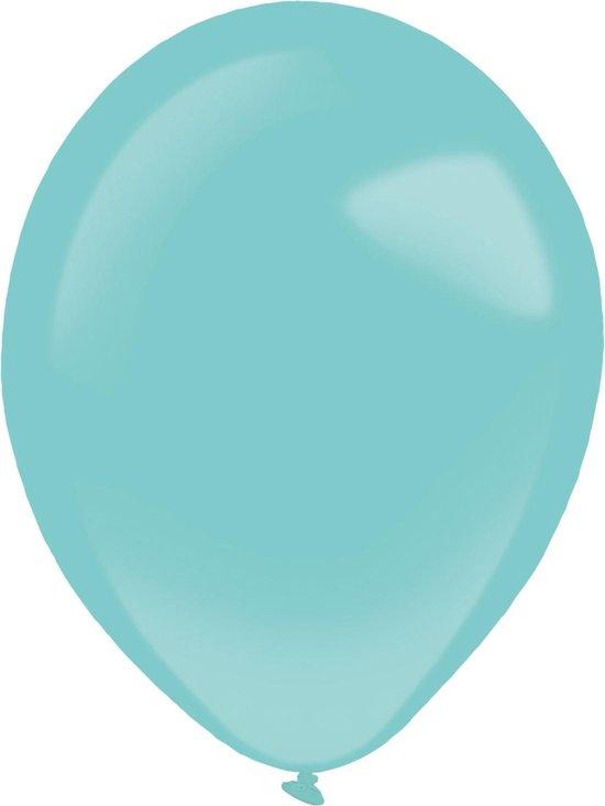 Amscan Ballonnen 35 Cm Latex Turquoise 50 Stuks