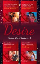 Omslag Desire Collection: August 2017 Books 1 - 4: The CEO's Nanny Affair / Little Secrets: Claiming His Pregnant Bride / Tempted by the Wrong Twin / The Texan's Baby Proposal