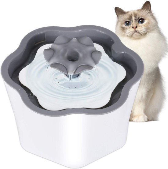 PetKing™ CL waterfontein 2L | kattenfontein | drinkfontein | drink fontein huisdieren | poezen waterbron | dieren drinkbak | water bak voor kat en