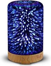 3D Glazen Aroma Diffuser/Nachtlamp, Luchtbevochtiger 100ml | Kleurrijke Led Verlichting | 5 Uur Sproei tijd | Aroma Vernevelaar | SensaHome Aroma 3D