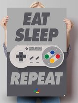 Nintendo eat sleep repeat - Poster 61 x 91.5 cm