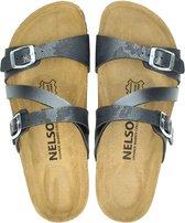 Nelson dames slipper - Zwart - Maat 36