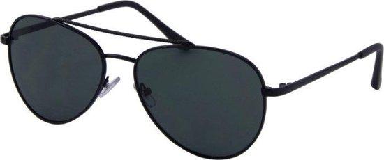 Az-eyewear Zonnebril Casual Unisex Cat. 3 Zwart/groen (7290)