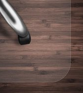 Swilix Vloerbeschermer - Bureaustoelmat PVC - Voor Harde Vloeren - 90x120cm - Transparant