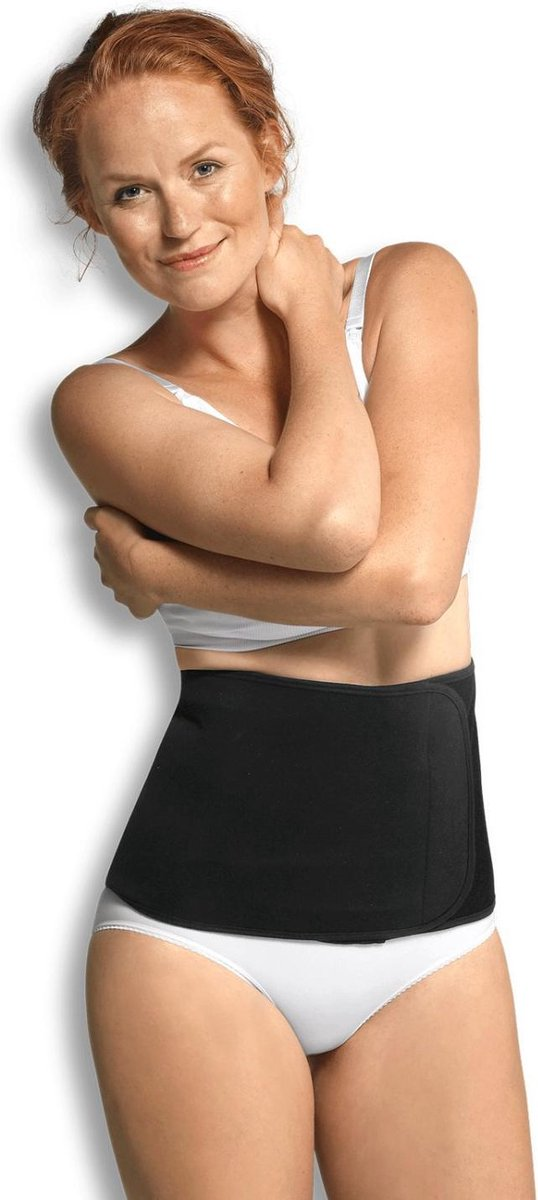 Carriwell Belly Binder – Sluitlaken – Biokatoen – Zwart – S/M