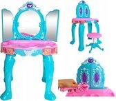 Kinder make-up tafel – Kinder opmaakspiegel – visagetafel – Prinses – incl. accessoires