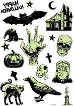 Halloween Nep Tattoo - Glow in the Dark - Vleermuis