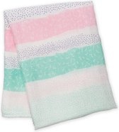 Lulujo - Hydrofiele Bamboo Swaddle Pink Spotted Lines