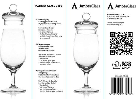 Whisky glas - AmberGlass - Amber Factory - Handmade - Proefglas