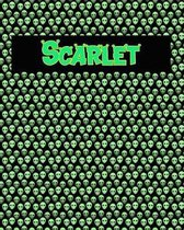 120 Page Handwriting Practice Book with Green Alien Cover Scarlet
