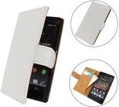 TCC Luxe hoesje Sony Xperia E Book Case Flip Cover C1605 - Wit