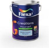 Flexa Creations Muurverf - Extra Mat - Mengkleuren Collectie - Midden Oceaan - 5 liter