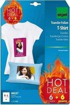 Afbeelding van Transferpapier Sigel - Inkjetfolie - A4 - Blanco - 6 stuks licht textiel + 6 gratis