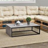 en.casa® Luton Moderne salontafel - 100 x 60 x 30 cm - Rooster - Betonlook