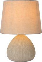 Lucide RAMZI - Tafellamp - Ø 18 cm - E14 - Beige