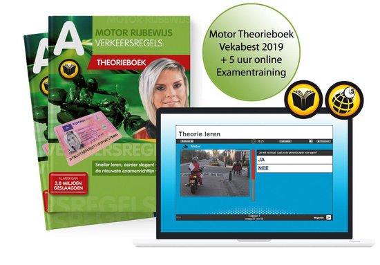 Motor Theorieboek 2019 Vekabest - Motor Theorie Leren - Rijbewijs A met 5 uur Examentraining Online