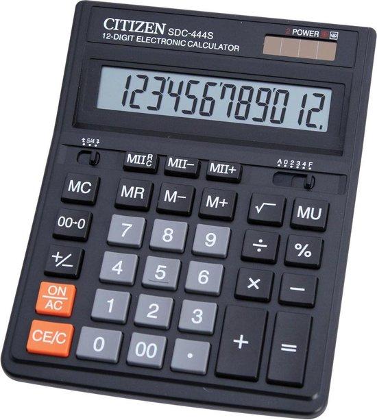 Afbeelding van Citizen SDC-444S Desktop Basisrekenmachine Zwart calculator