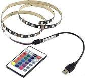 LED Strip - RGB - 1 Meter Incl Afstandsbediening - USB aansluiting