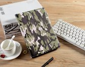 H.K. Draaibaar/Boekhoesje print hoesje camouflage geschikt voor Apple Ipad Air 3 (2019) + Stylus pen