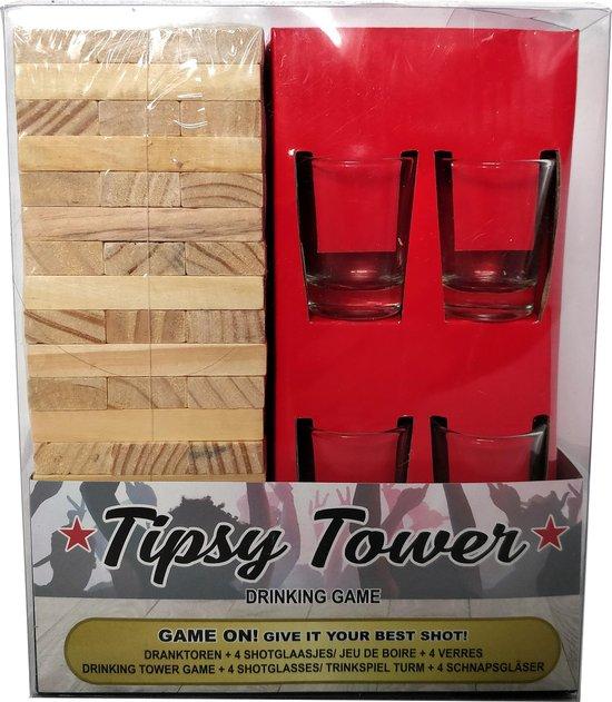 Thumbnail van een extra afbeelding van het spel Stapeltoren Drankspel - Tipsy Tower