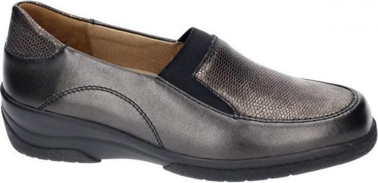 Solidus -Dames -  grijs  donker - mocassins - loafers - maat 37½