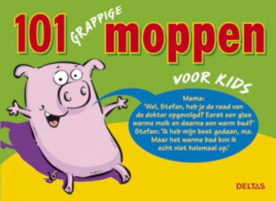 Cover van het boek '101 grappige moppen voor kids' van J. de Jager