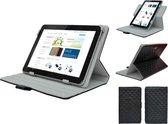 Diamond Class Case 360 graden draaibaar voor Lexibook First Tablet, Designer Hoesje, rood , merk i12Cover