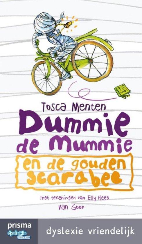 Boekomslag voor Dummie de mummie 1 - Dummie de mummie en de gouden scarabee